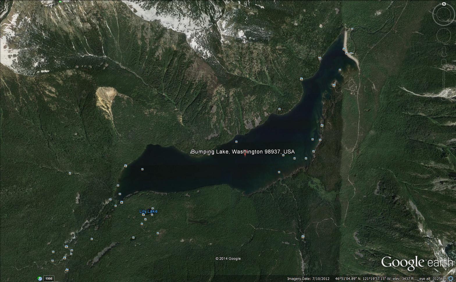 Bumping Lake Google Maps