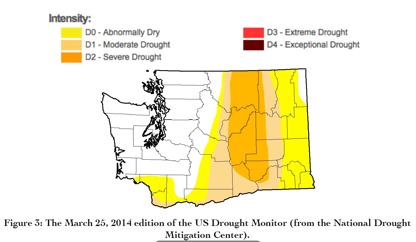 March 25 2014 US Drought Monitor Map