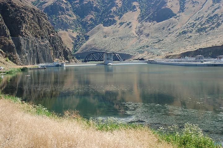 Yakima River at Roza Canal