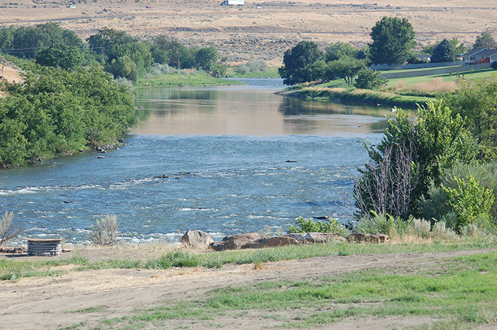 Yakima River east of Prosser